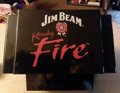 Jim Beam Kentucky Fire Napkin Straw Stir Stick Caddy Holder Swizzle New