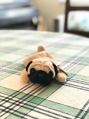 ... amazing price TY Beanie Baby - PUGSLY the Pug Dog Stamp 604 a791a 7d204  ... 0b3655d676