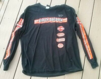 Harley-Davidson racing shirt Chicago size XL black/orange excellent condition