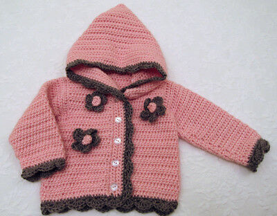 Pretty In Pink Baby Girl's Crocheted Hooded Sweater