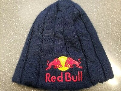 RARE RED BULL Athlete Knitted Blue Redbull Beanie Athlete HTF ... b883bfc8357