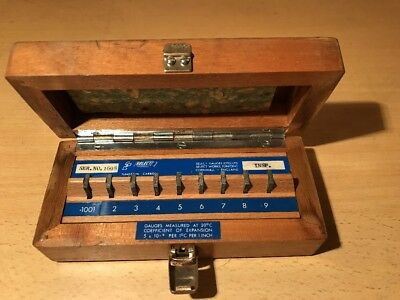 vintage set of gauges 'SELECT GAUGES LTD,  CORNWALL) in wooden box
