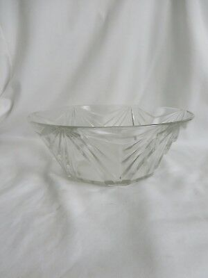 Vintage Indiana Glass Company Pyramid #610 Deco Master Berry Bowl Crystal
