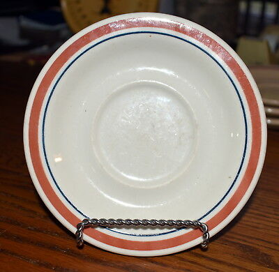 BUFFALO CHINA  Vintage Restaurant Ware 5 1/2 Inch Saucer #209A w/Russet Band