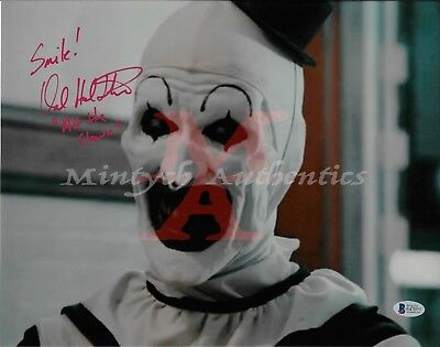 DAVID HOWARD THORNTON AUTO SIGNED 11x14 PHOTO! ART THE CLOWN! TERRIFIER! COA!