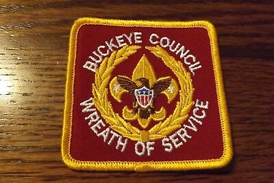 Boy Scout Patch Buckeye Council Wreath Of Service