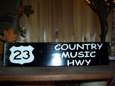 Country Music  Highway Sign Country Bar Pub Bluegrass Famous Roads Man Cave