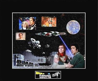 "SPACE 1999 Cast Members 8""x10"" Collage Photo -11"" x 14"" Black Matted"