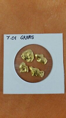 24ct  gold nuggets for sale 7.01 grams