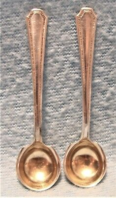 SET 2 TOWLE Co.1922 LADY CONSTANCE PATTERN STERLING SILVER SALT CELLAR SPOONS