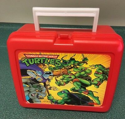 Teenage Mutant Ninja Turtles Lunch Box Thermos Industries 1993 - No Thermos