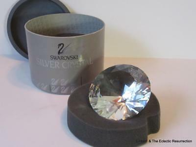 Vntg Swarovski Silver Crystal Large Chanton Paperweight 013702 / 7433 080 Boxed