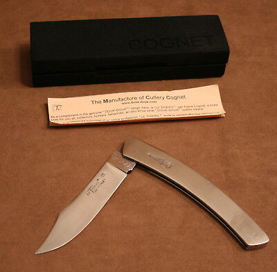 Douk-Douk Le Thiers Knife by Cognet All Stainless Steel Slim-line Model FRANCE