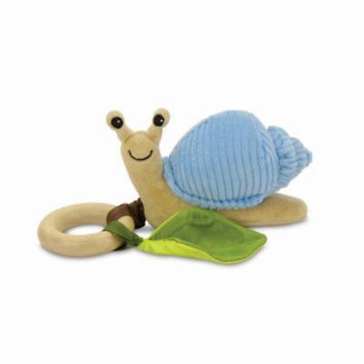 Apple Park - Crawling Critter Teething Toy - Snail Blue Corduroy