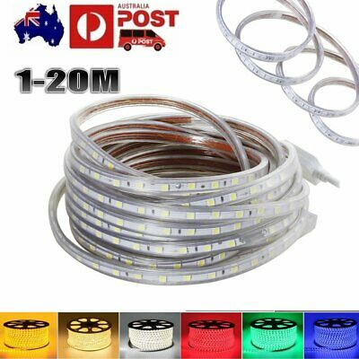 Waterproof SMD 5050 LED Strip Light 60 LEDs/M 220V-240V Flexible tape rope Light