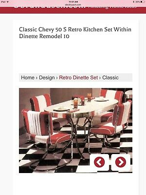 Classic Chevy 1950s Retro Dinette Set