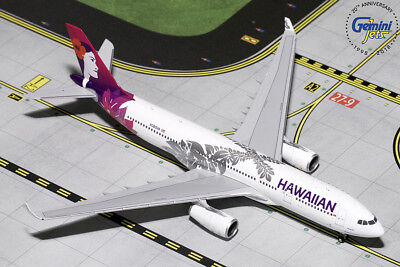 Gemini Jets Hawaiian Airlines Airbus A330-200 1:400 Die-Cast Gjhal1787 In Stock