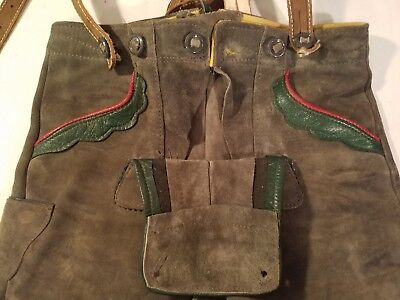 Authentic Leather Lederhosen made in Germany. Child size 4. Good Condition.