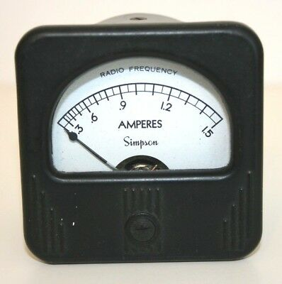 Simpson Radio Frequency Amperes Gage