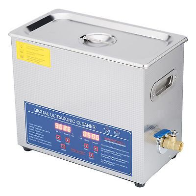 New 6 Ultrasonic Cleaner Stainless Steel Industry Heated Heater w/Timer New