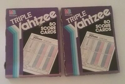 Triple Yahtzee Score Cards Two Packs Of 80 E 4100 Vintage 1991