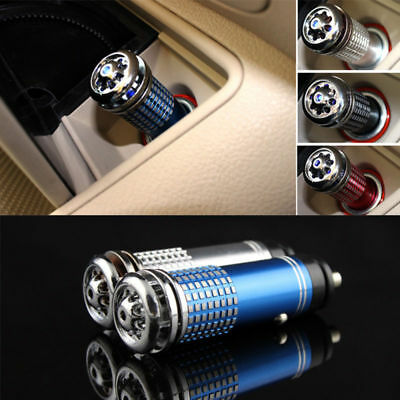 Red Mini Car Auto Fresh Air Ionic Purifier Ozone Ionizer Oxygen Bar Cleaner