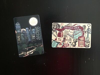 Trader Joe S Gift Card City Night Lights Skyscrappers Words Food 0