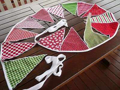 Merry Christmas Bunting Flags Banners - 2.5 metres