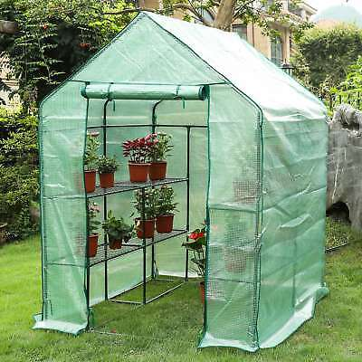 "Deluxe Walk-in Greenhouse Portable Garden, 56"" L x 56"" W x 76"" H pap"