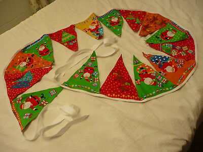 Merry Christmas Santa Bunting Flags Banners – 2.5 metres