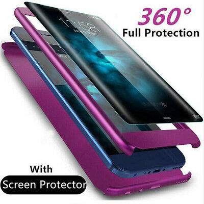 360° Protect For Samsung Galaxy Note 9 8 S8 S9+ FullBody Case+Temper Glass Cover