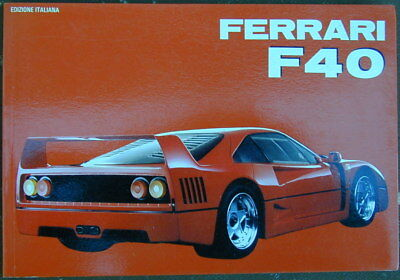 Old Original Sales Brochure Owners Manual 1992 Ferrari F40 Very Rare