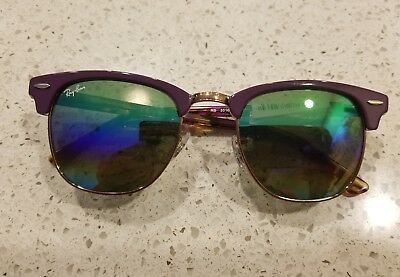 69e20bc271240 ... get ray ban clubmaster 3016 1221 c3 violet bronze mineral fade 49mm new  authentic 1bf52 9562b