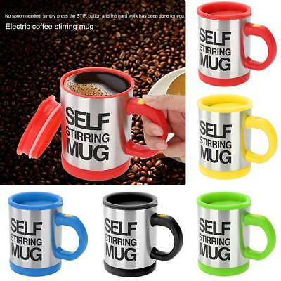Automatic Electric Lazy Self Stirring Mugs Coffee Cup Milk Mixing 400ml with Lid