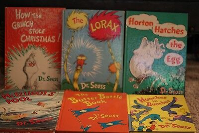 Dr. Suess Hardcover - 6 8x12 books including How The Grinch Stole Christmas