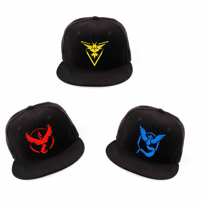 Pokemon Go Cap Hat Team Valor Team Mystic Team Instinct Pokemon Cap Boys Girls