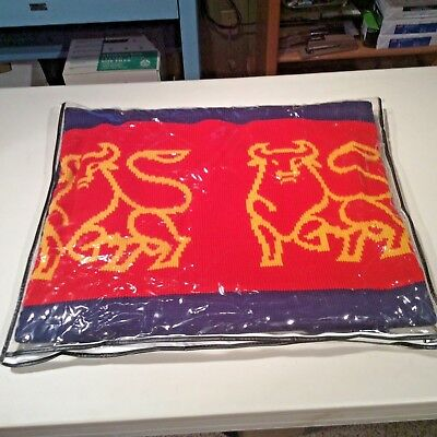 Merrill Lynch Blanket/Throw - Blue and Red with Bull Logo