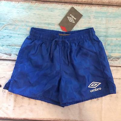 NEW Umbro Soccer Athletic Gym Shorts Blue Check Youth Size XS
