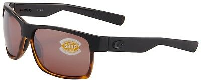 5b7edc3a0a194 Costa Del Mar Half Moon Sunglasses HFM-181-OSCP Black 580P Copper Polarized