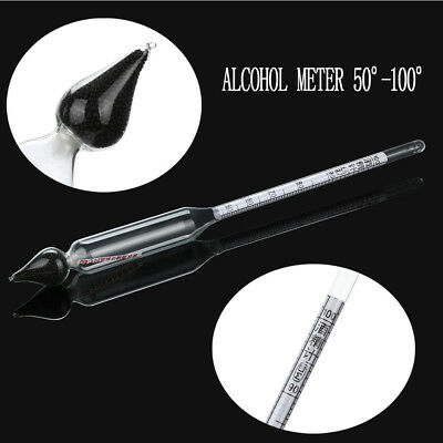 ALCOHOL METER 50°-100° - Alcoholmeter Alcoholometer, Hydrometer Turbo Yeast Vodk