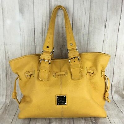 Dooney & Bourke Fall Mustard Yellow Large Pebble Leather Ciara Stachel Purse Bag