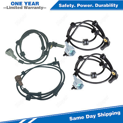 4x ABS Wheel Speed Sensor Front & Rear For 2004-2007 Nissan Titan 8 Cyl 5.6L
