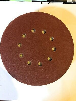 "10pc Sand Paper 9"" 10 Hole 120Grit Hook&loop Sanding Discs Sandpaper for Drywall"
