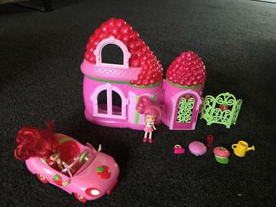 Vintage Strawberry Shortcake Car & Berry House Playset - 2008 - Great Price