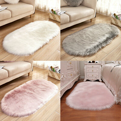 Amazing Soft Thick Faux Fur Shaggy Living Bedroom Rugs Door Mats Carpet Washable Natural Interior Design Ideas Oteneahmetsinanyavuzinfo