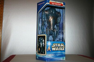 "Star Wars Super Battle Droid 12"" Action Figure Attack of Clones Hasbro NIB"