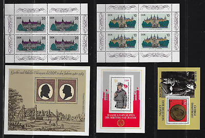 Germany / DDR Stamps — Various 5 Souvenir Sheets MNH — Lot 8764