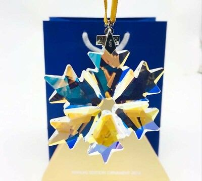 2018 Swarovski Crystal Rainbow-Champagne ANNUAL LARGE CHRISTMAS ORNAMENT 5301575