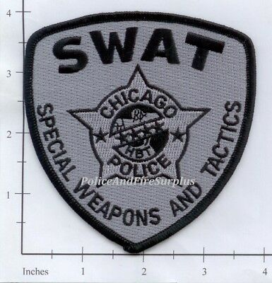 Illinois - Chicago SWAT IL Fire Dept Patch - Special Weapons And Tactics