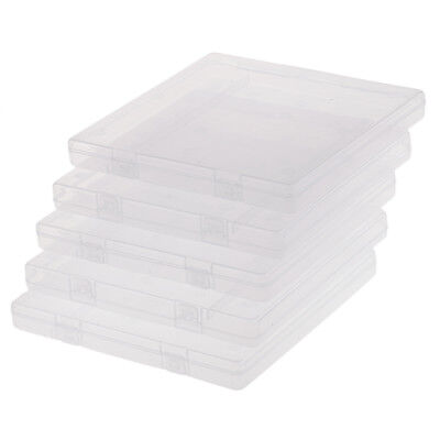 5Pc Square Empty Clear Plastic Box Hardware Tools Containers for Home Supply